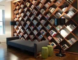 unique furniture ideas. Contemporary Home Library Furniture With Neat Arrangement : Unique Book Shelves Design Ideas M