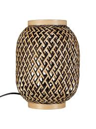 John Lewis Partners Adra Bamboo Vessel Table Lamp Natural At John