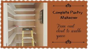 complete pantry room makeover from coat closet to functional storage space