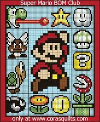 Super Mario Brothers Quilt Along – Cora's Quilts by Shelley Cavanna & Finished Size: 82