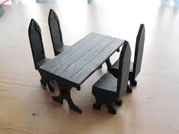 gothic dining table set by zmikk