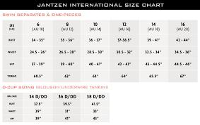 Picture Size Chart Size Fit Guide Jantzen