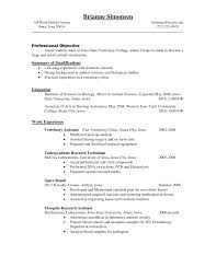 Lab Technician Resume Objective Resume Peppapp
