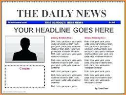 blank newspaper template 15 blank newspaper template vacation budget