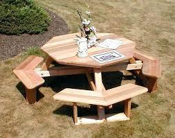 cedar picnic table kit round picnic table plan nice round cedar patio table plans picnic table