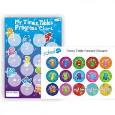My Times Tables Chart Times Tables Progress Chart And Reward Stickers