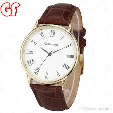 gift mens brown fashion leather watches brand new simple style wrisch men watch brand genius first watch zh1106 designer watch watch