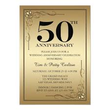 50th Anniversary Party Invitations Gold 50th Wedding Anniversary Party Invitation