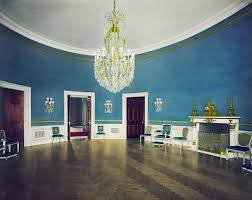 hand tinted blue room white