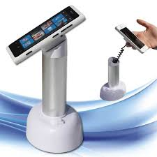 Cell Phone Display Stands Built In Sensor Retractor Cable Mobile Phone Cell Phone Retail 74