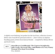 thank you to the strategist for featuring joan rivers confidential in this year s most giftable coffee table books