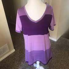Lularoe Purple Color Block Christy T Boutique