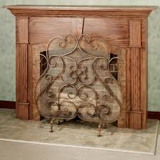 castleton fireplace screen antique gold to expand