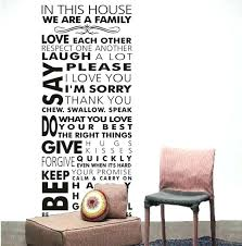 wall sticker sayings family sayings wall art house rule wall decals rules of our family removable