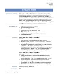 ... Hotel Front Desk Receptionist Resume Sample Office Throughout 21  Amusing Examples ...