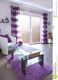 Purple Decorating Living Rooms Modern White And Purple Living Room Interior Stock Images Image