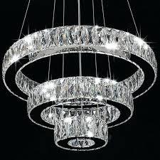 modern crystal chandeliers round ring led pendant lamp ceiling lights chandelier lighting