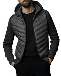 Canada Goose Men s Hybridge Knit-Sleeve Puffer Jacket