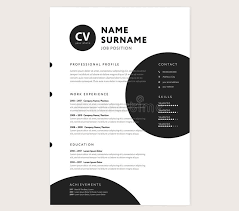 Cv / Resume Template - Creative Stylish Curriculum Vitae Design ...