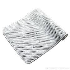 pauwer extra long non slip bathtub mat safe clean anti bacterial machine washable superior grip and drainage vinyl non slip bath mat 43 91cm white