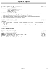 Chronological Resume Examples Chronological Resume Examples