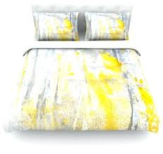 blue and yellow duvet cover king lynn tice abstraction gray yellow cotton duvet cover twin 68x88