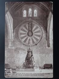 hampshire winchester king arthurs round table queen victoria statue c1915