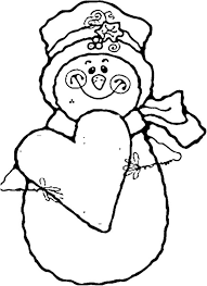 Small Picture Heart And Snowman Coloring Pages To Print Winter Coloring pages