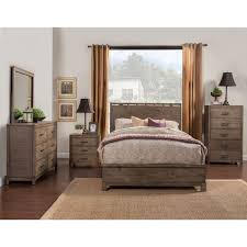 Alpine Furniture Q Sydney Queen Panel Bed In Weathered Grey - Sydney bedroom furniture