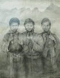 Devotion Drawing by Shawn Garrison
