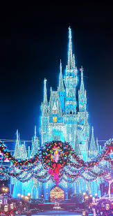 magic kingdom christmas wallpaper. Exellent Magic Christmas Disney Magic Kingdom Castle With The Wreaths Photographer  Unknown Have A Wonderful Throughout Wallpaper Y