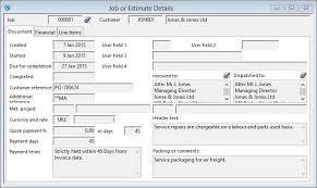 Estimating Job Jobs And Estimating Job Or Estimate Details