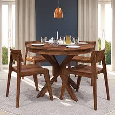 wooden dining furniture. Buy 4 Seater Wooden Dining Sets Online In India Urban Ladder Regarding Round Set For Ideas 12 Furniture D