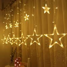 Bộ 12 đèn nháy led nhiều màu trang trí hình ngôi sao 8 chế độ 2.5m -  109,000