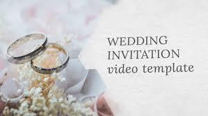 Wedding Invitation Templates With Photo Wedding Invitation Video Template Editable