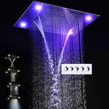 2019 Bathroom Rain Shower Set <b>Luxury Shower System</b> Waterfall ...