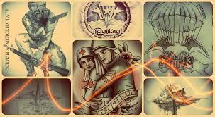 эскизы армейских тату рисунки для нанесения армейской татуировки