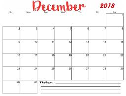 December Calendar Blank Free Printable Blank Monthly December 2018 Calendar December 2018