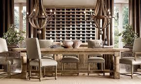 restoration hardware rooms gun barrel salvaged wood 108 144 extension dining table not