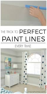 easy painting tip how to paint perfect paint lines even on textured walls with just