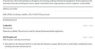 Online Resume Maker Free Wonderful 1924 Free Resume Builder Online Resume Online Builder Free Resume Builder