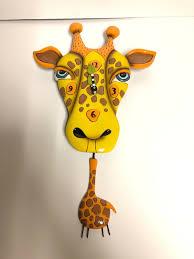 Allen Designs Allen Designs Jaffy The Giraffe Animal Battery Wall Clock With Pendulum