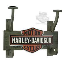 Harley Davidson Coat Rack 100100V HarleyDavidson Trademark BS Wooden Helmet Jacket 47