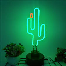 Cactus Neon Light Cactus Real Glass Neon Light Light Decorations Wall