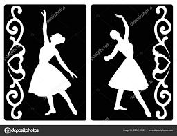 stencil ballerina silhouette stock vector