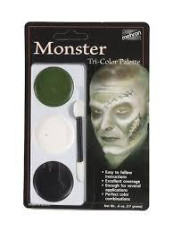 3 colour frankenstein face paint makeup palette