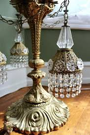 chandelier table lamp gold regency gold and crystal swag chandelier floor lamp with glass table top chandeliers on at