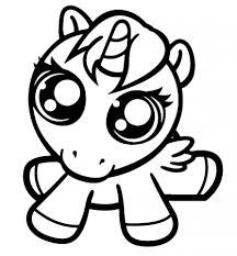 Cute baby unicorn coloring page for girls vector image. Baby Unicorn Coloring Pages Coloring Rocks