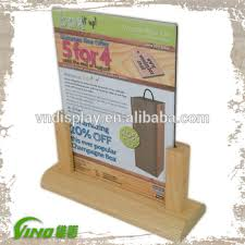 Wooden Menu Display Stands Restaurant Menu Display Stand Wood Menu Holder Mini Chalkboard 2
