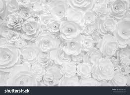 Paper Flower Background White Paper Flowers Decorative Background Stock Photo Edit Now